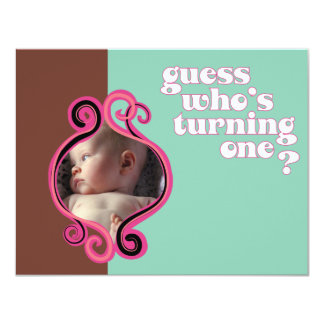 Guess Who's Turning One Personalized Invitation