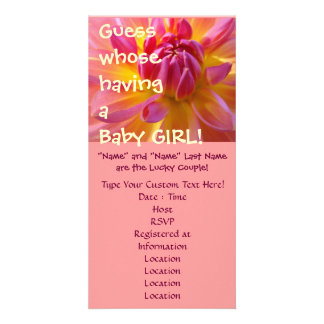 Guess whose having a Baby Girl! Shower invitations