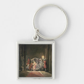 Guest, 1926 Silver-Colored square keychain