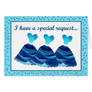 Guest Book Attendant Invitation with  Blue Dresses Greeting Card