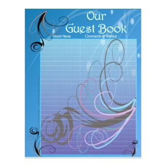 Guest Book Pages for Wedding Album Flyer