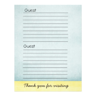 Guest book Paper Flyer