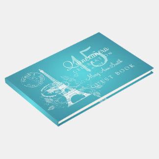 Guest Book Quinceanera Party Paris Turquoise