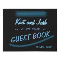 Guest Book Sign Minimalist Elegant Glowing Gothic