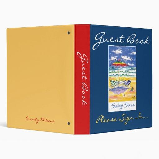 Guest Book, Surviving Stress 3 Ring Binder
