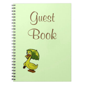 Guest Book Vintage Rubber Duck Theme Baby Shower Note Book