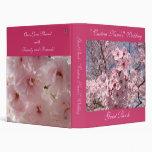 Guest Book Wedding Pink Blossom Album Floral Binder