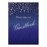 Guest Book Wedding Sign - Dark Blue Card
