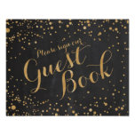 Guest Book Wedding Sign Poster