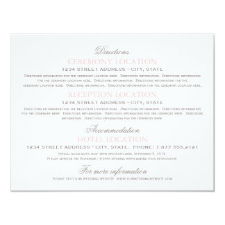 Guest Information Cards | Blush Pink and Gray