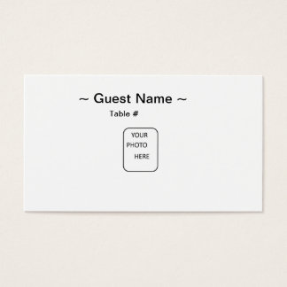 Guest Name Table Place Card