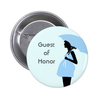 """""""Guest of Honor"""" Baby Shower Button [Blue]"""