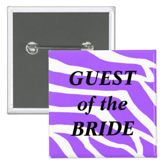 Guest Of The Bride Purple Wedding Button