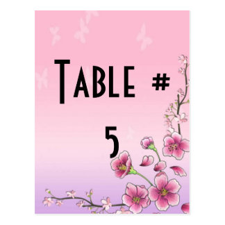 Guest Table Number Postcard