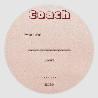 Guest, Visitor: Conference, Exhibition, Promotion Classic Round Sticker