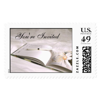 Guestbook 1A, You're Invited [CUSTOMIZE] Postage