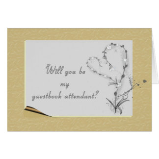 guestbook attendant card