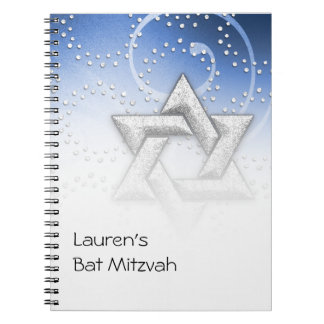 Guestbook Blue Shimmer Star of David Notebook