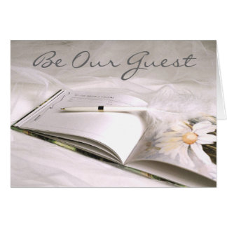 Guestbook Card (2), Be Our Guest