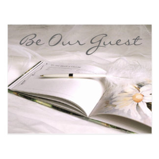 Guestbook Card Save the Date (2), Be Our Guest