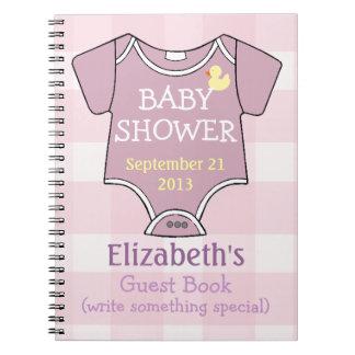 Guestbook de color de malva de la ducha libros de apuntes