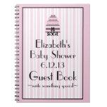 Guestbook de la ducha rosada libreta espiral