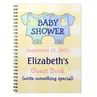 Guestbook de la fiesta de bienvenida al bebé de lo libretas
