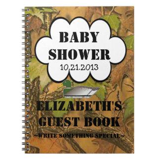 Guestbook de la fiesta de bienvenida al bebé de lo libros de apuntes con espiral