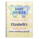 Guestbook de la fiesta de bienvenida al bebé de lo cuadernos