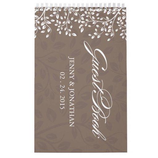 Guestbook del boda - personalizado calendarios