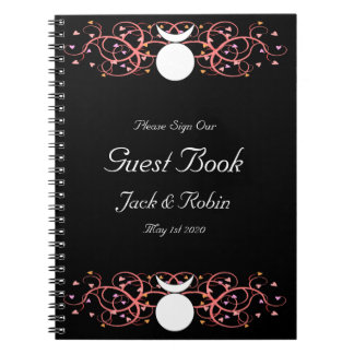Guestbook dual de dios para un Wiccan gay Libreta Espiral