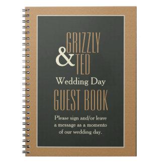Guestbook gay enmarcado con clase del boda del oso libreta