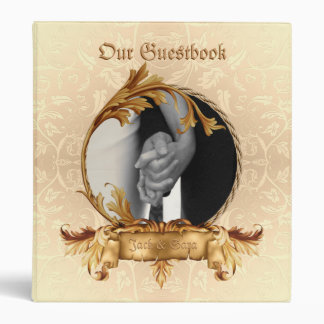 Guestbook occidental O libro de recuerdos del boda Carpeta 1""