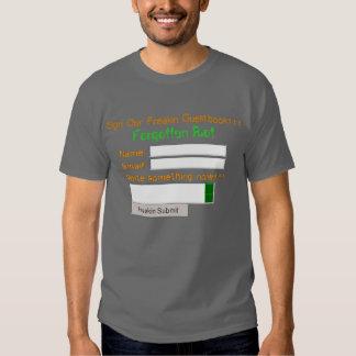 guestbook shirt, Forgotten Riot T-shirt