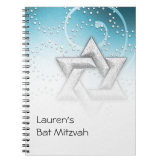 Guestbook Turquoise Shimmer Star of David Notebook