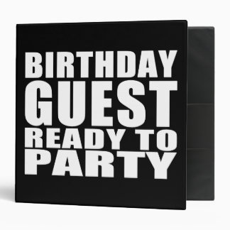 Guests : Birthday Guest Ready to Party Vinyl Binders