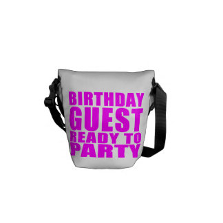 Guests : Birthday Guest Ready to Party Messenger Bag