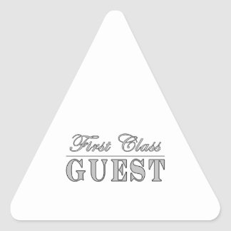Guests First Class Guest Triangle Sticker