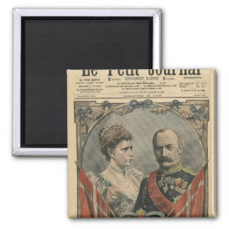 Guests of France, King Frederick VIII  and Queen Fridge Magnet