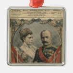 Guests of France, King Frederick VIII  and Queen Metal Ornament