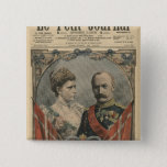 Guests of France, King Frederick VIII  and Queen Pinback Button