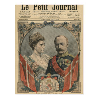 Guests of France, King Frederick VIII  and Queen Postcard