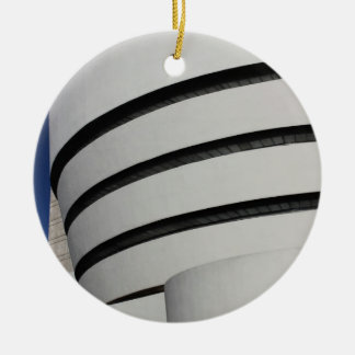Guggenheim Museum in New York City Double-Sided Ceramic Round Christmas Ornament