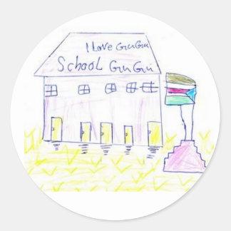 Gugu Learning Center Classic Round Sticker