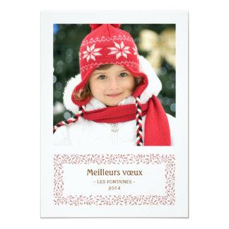 "gui de Noël carte de photo de vacances Invitación 5"" X 7"""