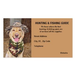 Guía adaptable de la caza/de la pesca tarjeta personal