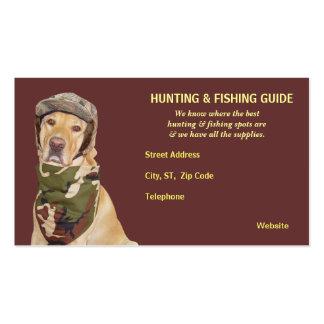 Guía adaptable de la caza/de la pesca tarjeta de visita