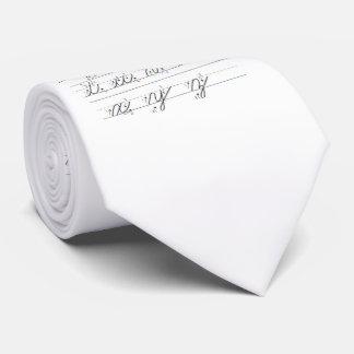 Guía cursiva minúscula corbata personalizada