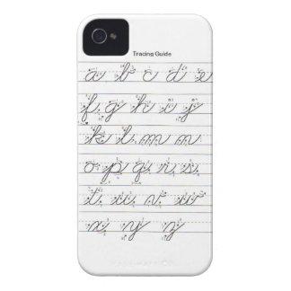 Guía cursiva minúscula iPhone 4 protectores