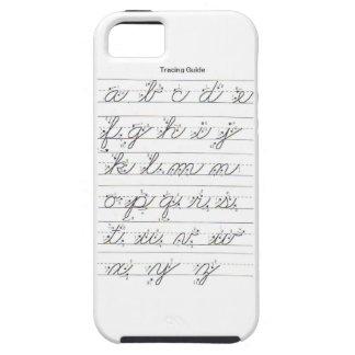 Guía cursiva minúscula iPhone 5 fundas